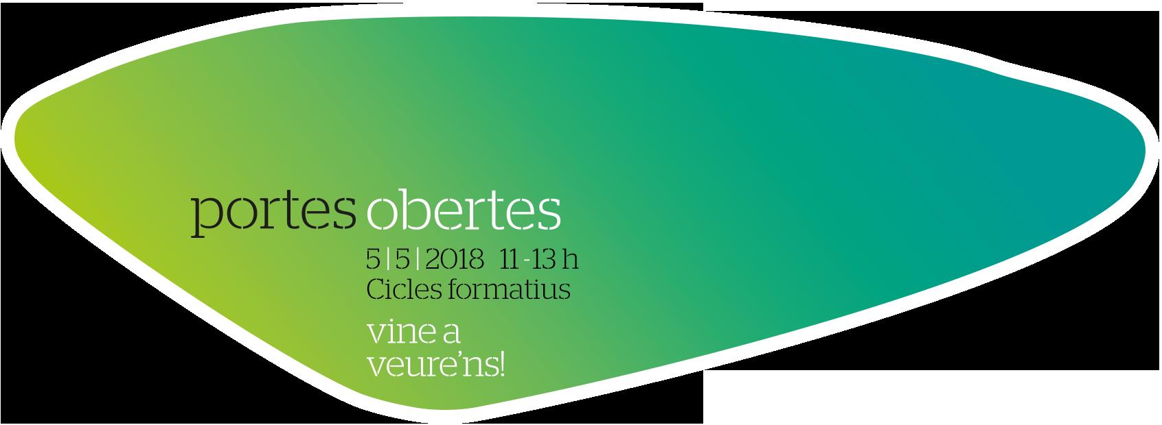 Portes Obertes - 05/05/2018 - CICLES FORMATIUS