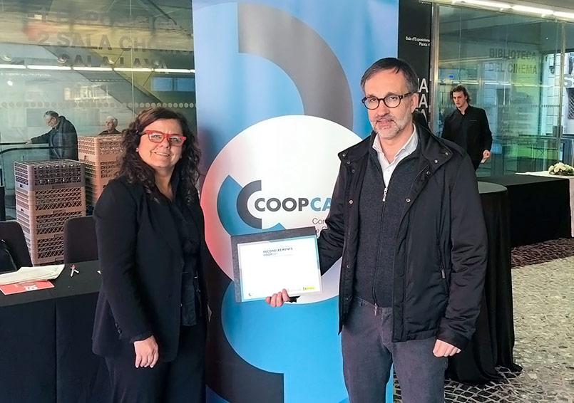 El Ginebró rep el reconeixement de la Confederació de Cooperatives de Catalunya